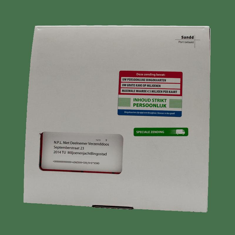Postcodeloterij Bingokaarten Gesloten