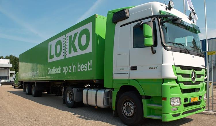 Vrachtwagen van LOKO Grafisch op z'n best!